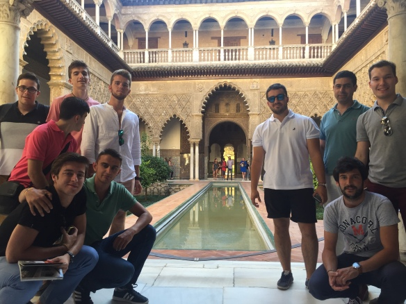 En el Alcázar de Sevilla